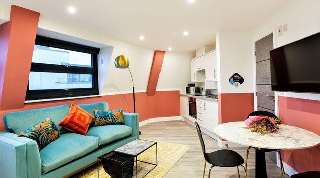 Living Room at Clifton Village Apartments, Clifton, Bristol