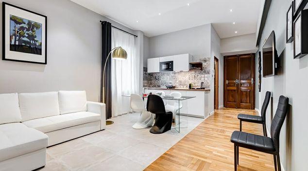 Living area at Roman Calligraphy Apartment, Municipio I, Rome