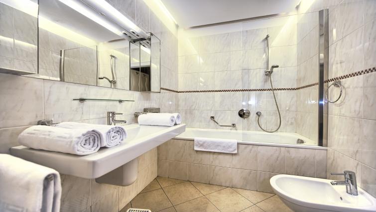 Main bathroom at Residence Brehova Apartments