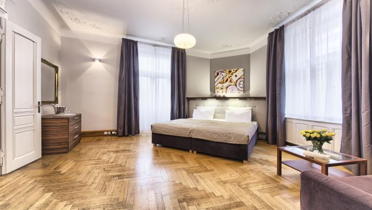 Spacious bedroom at Residence Brehova Apartments