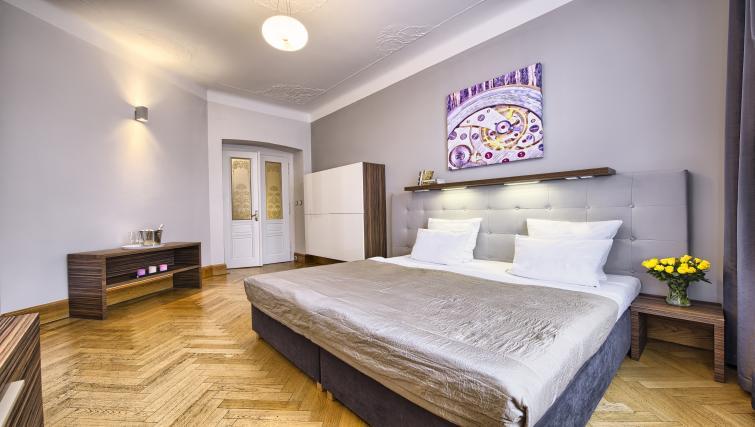 Master bedroom at Residence Brehova Apartments