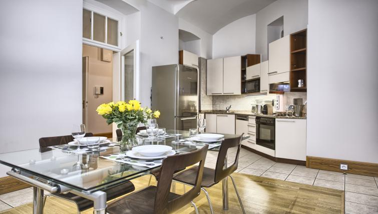 Equipped kitchen at Residence Brehova Apartments