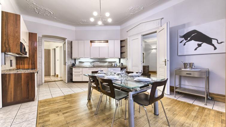 Fully equipped kitchen at Residence Brehova Apartments