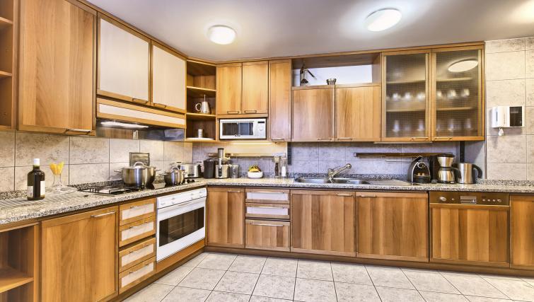 Spacious kitchen at Residence Brehova Apartments