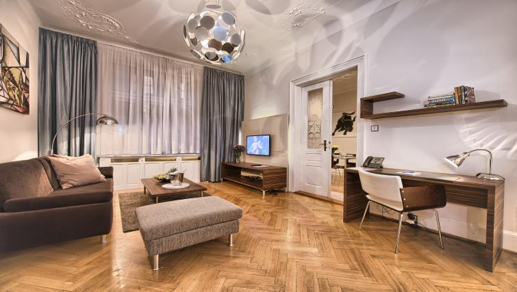 Living area at Residence Brehova Apartments