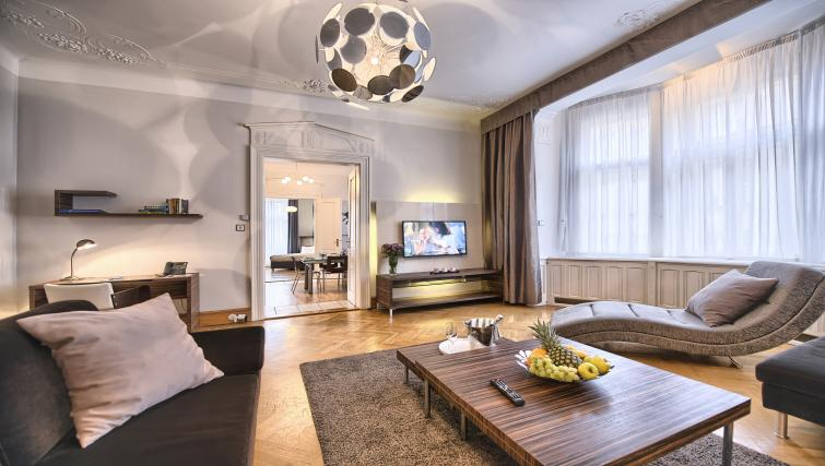 Living room at Residence Brehova Apartments