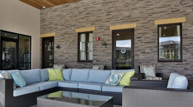 Outdoor Lounge at Zen Luxury Living