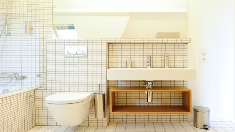 Refreshing bathroom in Key Inn Apart-Hotel Parc de Merl