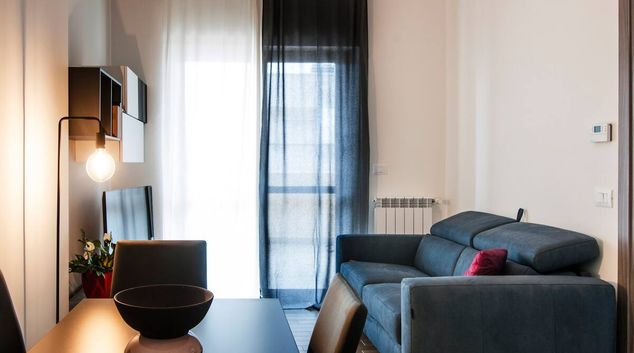 Living room at South Spring Grey Apartment, Fonte Laurentina, Rome