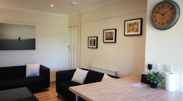 Living area at Mackie House, Filton, Bristol