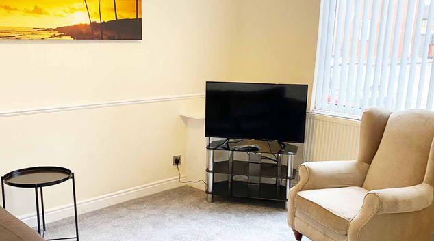 Living area at Briscoe House, Newton Heath, Manchester