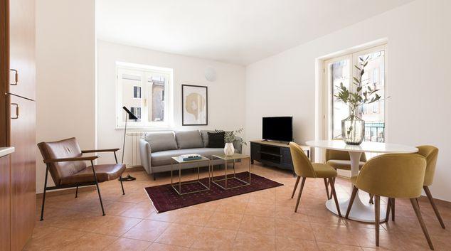 Living room at San Pietro Vaticano, Vatican City, Rome