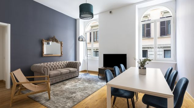 Living room at Trevi Apartments, Municipio I, Rome