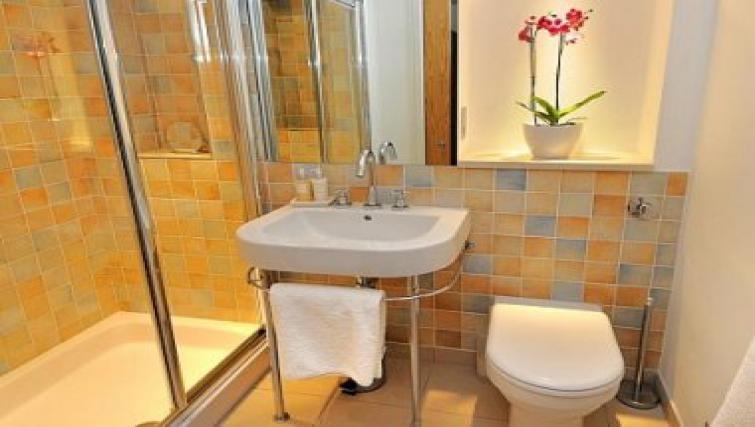 Attractive bathroom in By the Bridge Apartments