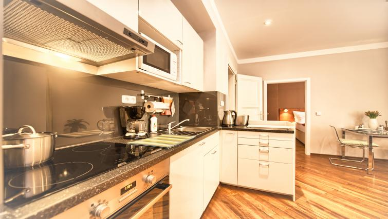 Fully equipped kitchen at Residence Masna Apartments