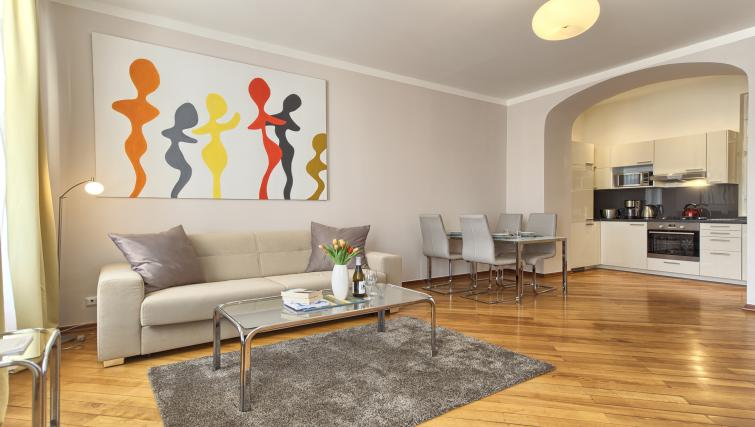 Living area at Residence Masna Apartments