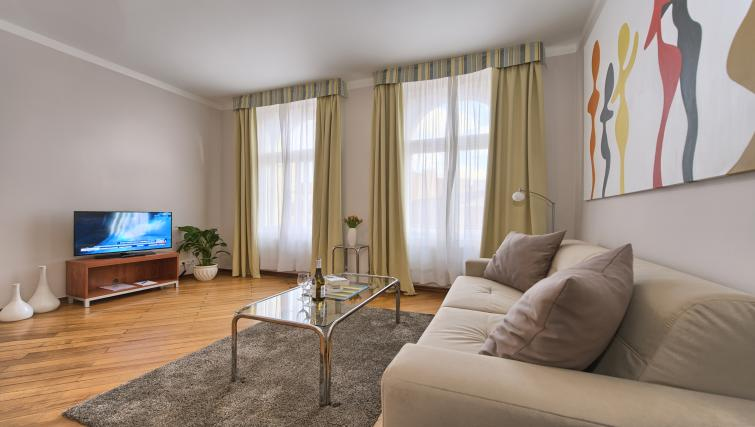 Living space at Residence Masna Apartments
