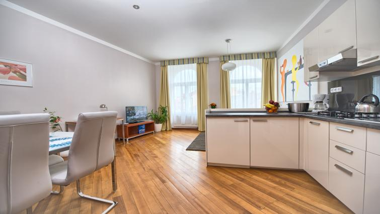 Open plan living area at Residence Masna Apartments
