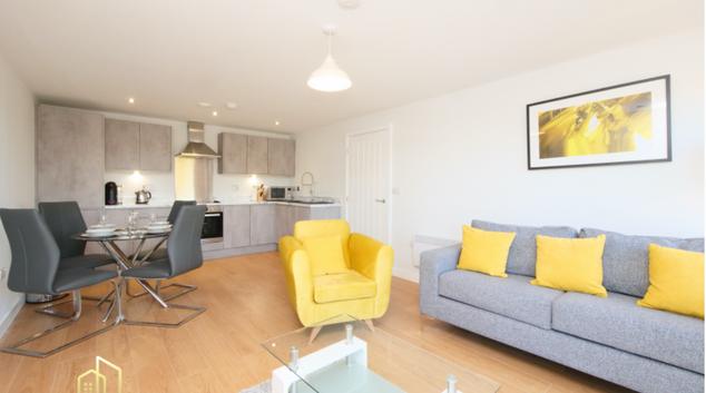 Living room at victoria Riverside, Centre, Leeds