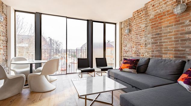 Living area at The Bethnal Green Escape, Bethnal Green, London
