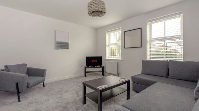 Living area at Sockburn House, Hamilton, Leicester