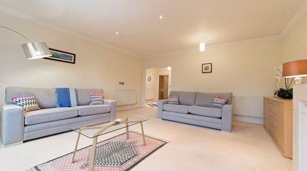 Living room at Flockton House Apartment, Centre, Weybridge
