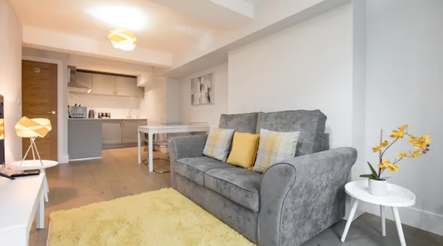 Living room at Space Apartment, Centre, Brentwood