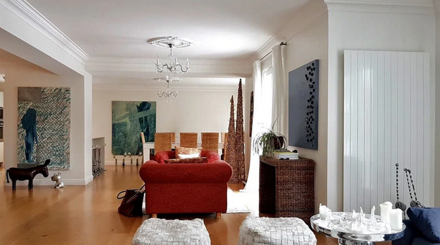 Living room at Coppet House, Coppet, Nyon