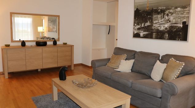 Living area at Damataire Apartment, Pully, Lausanne