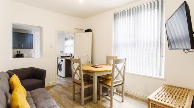 Living area at Caerau Gardens Apartment, Centre, Newport
