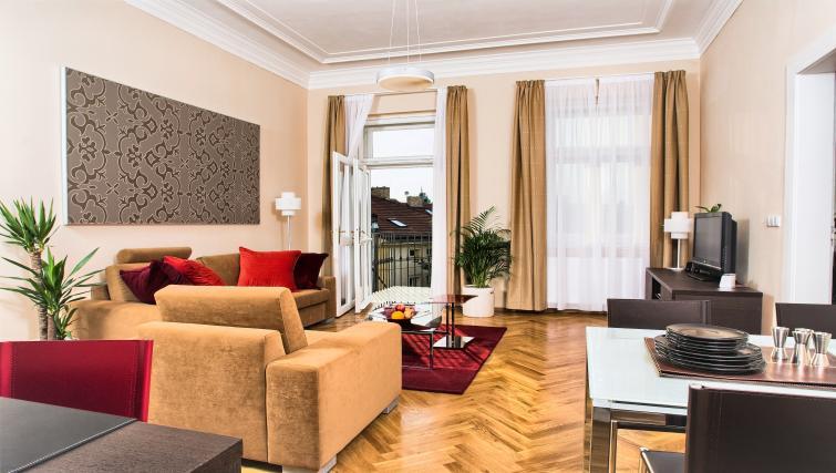 Living space at Residence Karolina Apartments