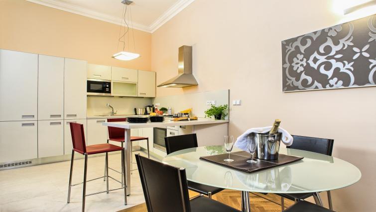 Equipped kitchen at Residence Karolina Apartments