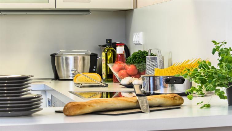 Fully equipped kitchen at Residence Karolina Apartments