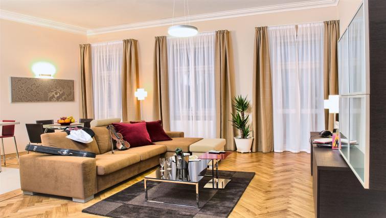 Living room at Residence Karolina Apartments