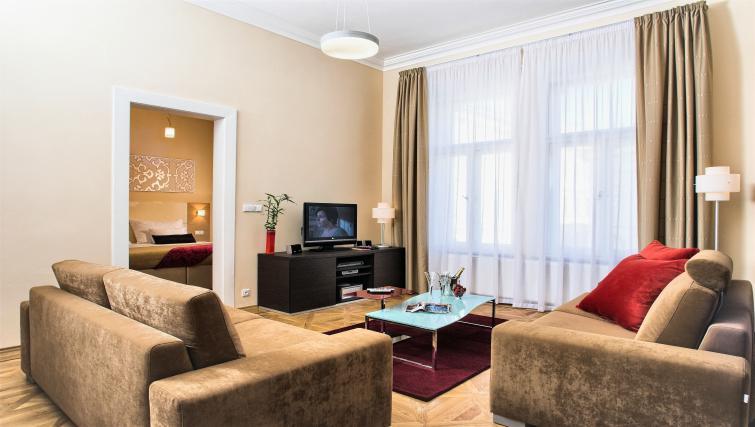 Cosy living area at Residence Karolina Apartments