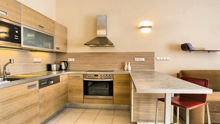 Bright kitchen at Residence Karolina Apartments