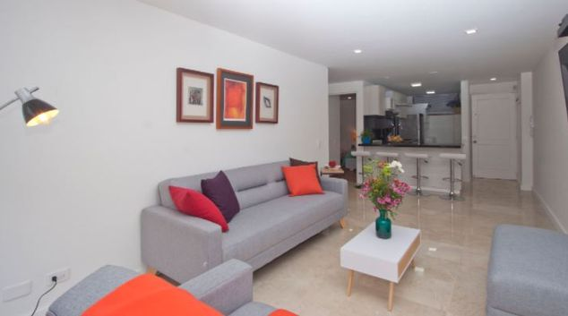 Living room at Victory 66 Apartment, Chapinero, Bogota