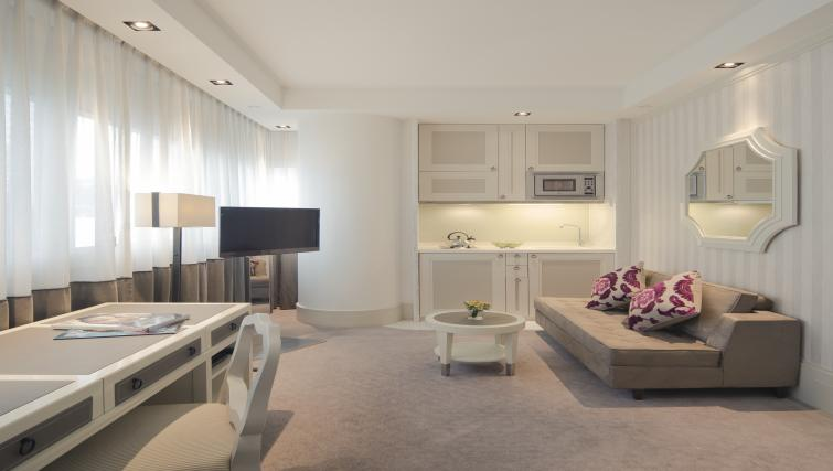 Kitchen area at Lanson Place Hotel and Apartments