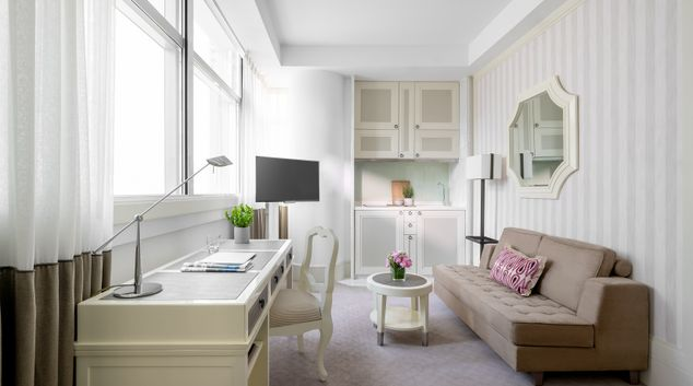 Living area at Lanson Place Hotel and Apartments, Causeway Bay, Hong Kong
