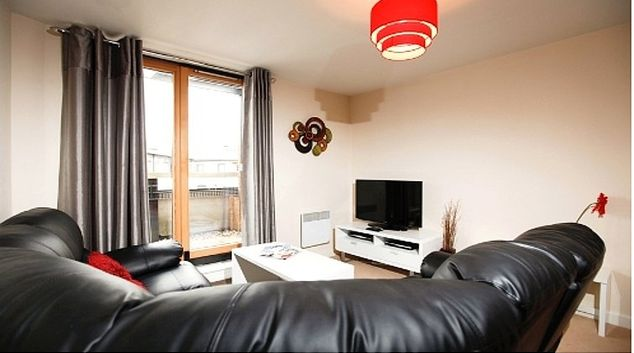 Comfortable living area in Priory Place Apartments