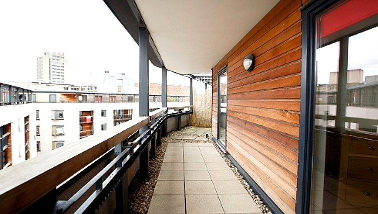 Scenic balcony in Priory Place Apartments