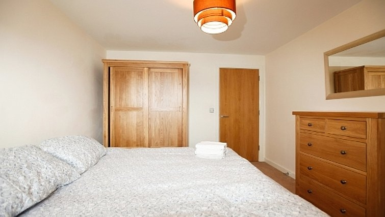 Mature bedroom in Priory Place Apartments