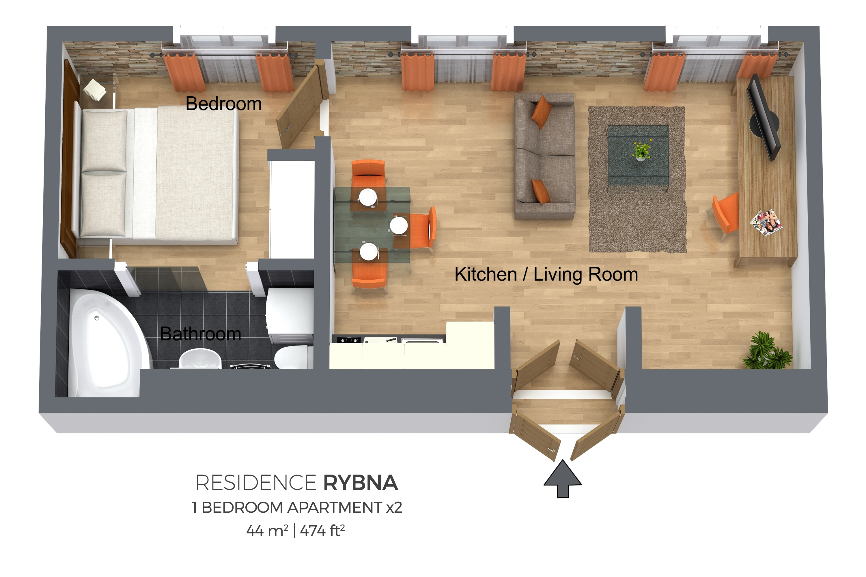 1 bed apartment at Residence Rybna Apartments