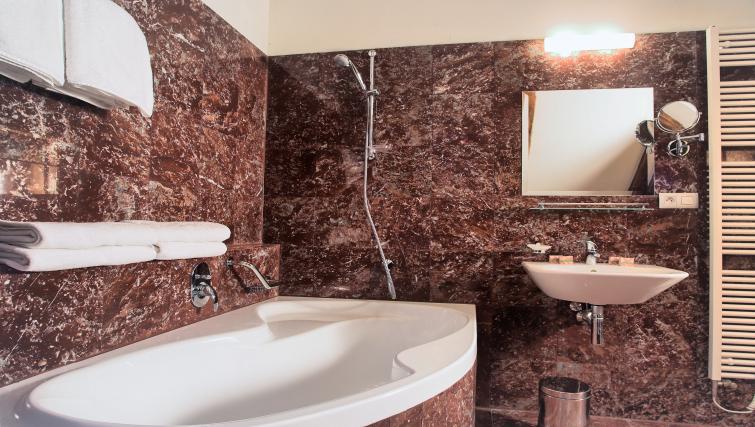 Modern bathroom at Residence Rybna Apartments