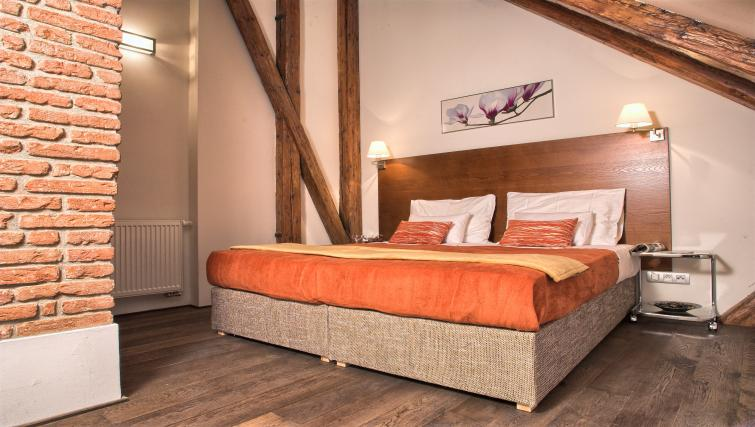 Cosy bedroom at Residence Rybna Apartments
