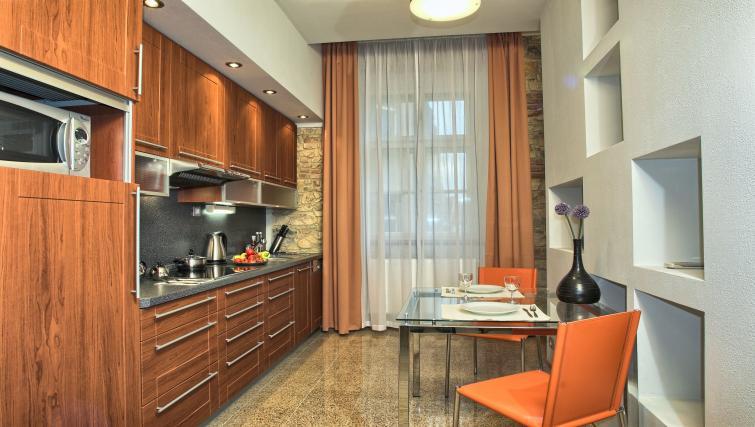 Kitchen at Residence Rybna Apartments