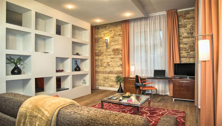 Living area at Residence Rybna Apartments