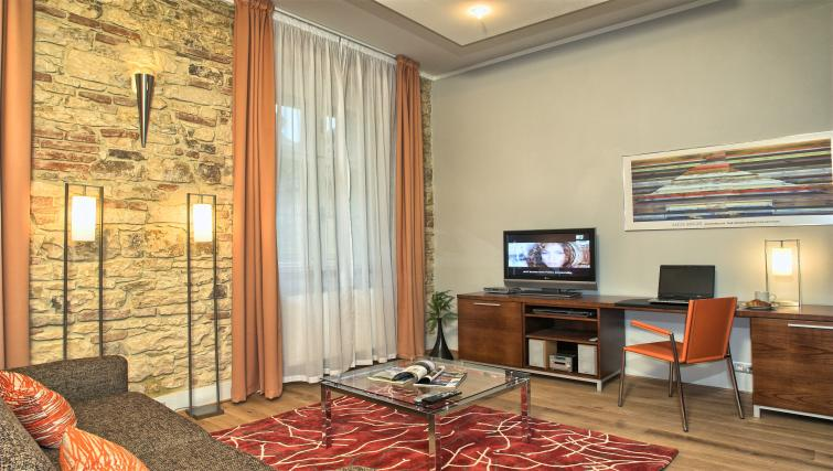 Living room at Residence Rybna Apartments