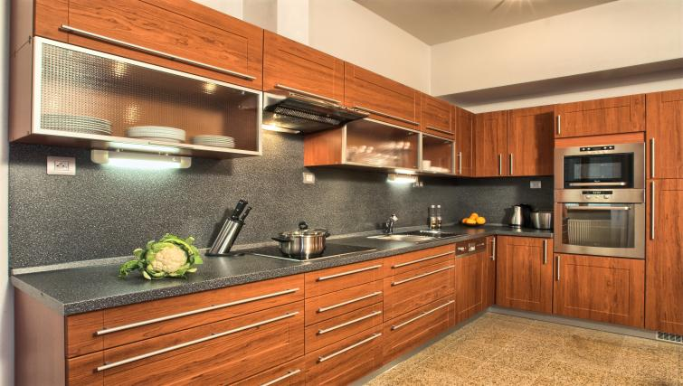 Fully equipped kitchen at Residence Rybna Apartments
