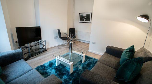 Living area at Corpa Retreat, Centre, Newport